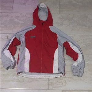 Vintage red and gray Columbia jacket